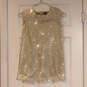 Gold Sequin Dress. Girls size L/10.
